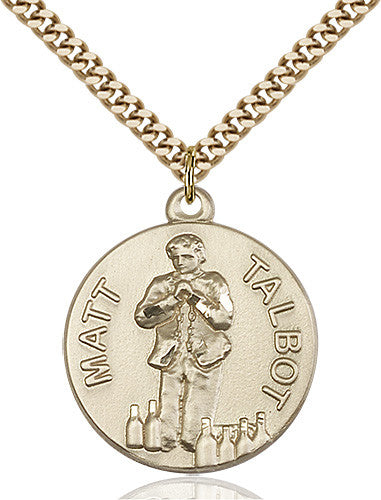 Image of Matt Talbot Pendant (Gold Filled)