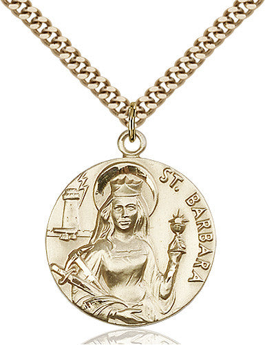 Image of St. Barbara Pendant (Gold Filled)