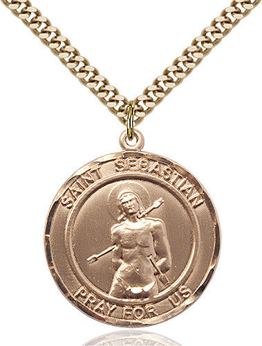 Image of St. Sebastian Pendant (Gold Filled)