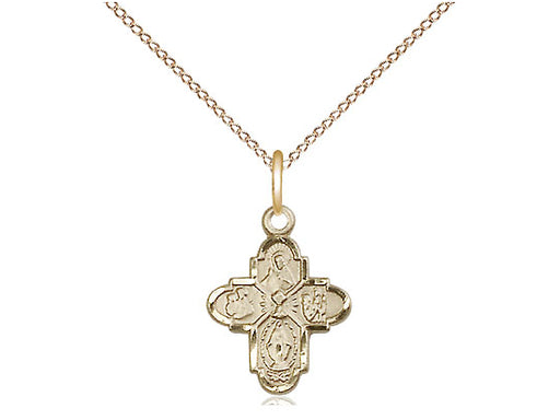 4-Way / Chalice 14 Karat Gold Filled Pendant