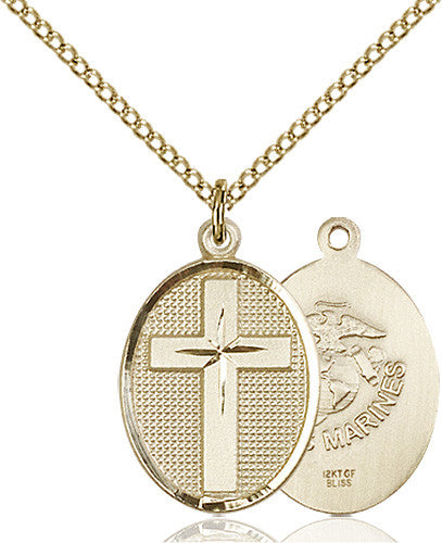 cross_marines_pendant_14_karat_gold_filled