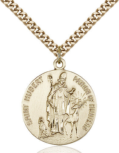 Image of St. Hubert of Liege Pendant (Gold Filled)