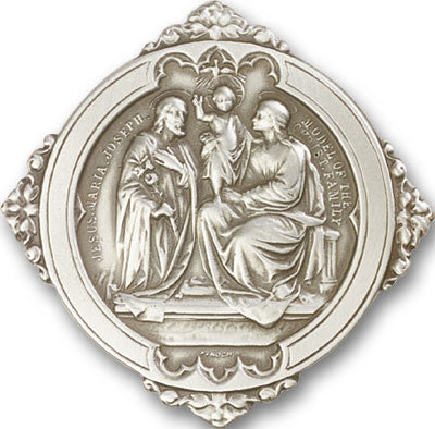 Image of Antique Silver HOLY FAMILY Visor Clips