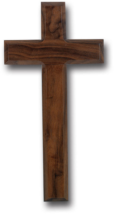 "10"" Walnut Wood Wall Cross"