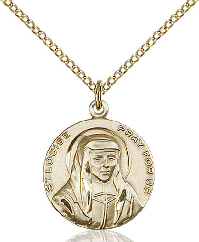 Image of St. Louise Pendant (Gold Filled)