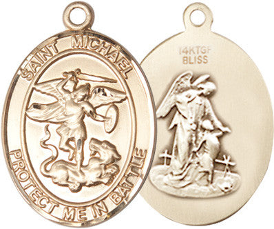 St. Michael Pendant (14 Karat Gold Filled)