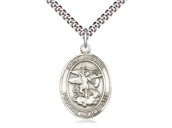 St. Michael Sterling Silver Pendant