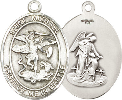 St. Michael Pendant (Sterling Silver)