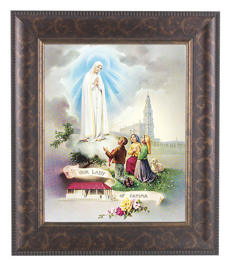 Our Lady Of Fatima Styled Frame