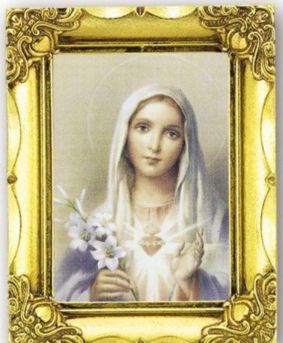 Immaculate Heart of Mary Antique Gold Frame