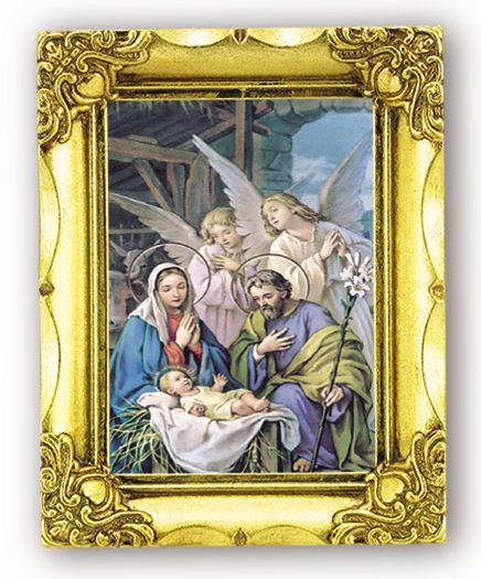 Nativity Antique Gold Frame