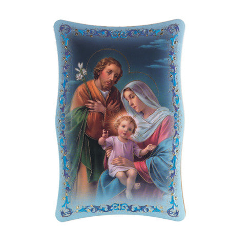 HOLY FAMILY GOLD STAMPED PLAQUE