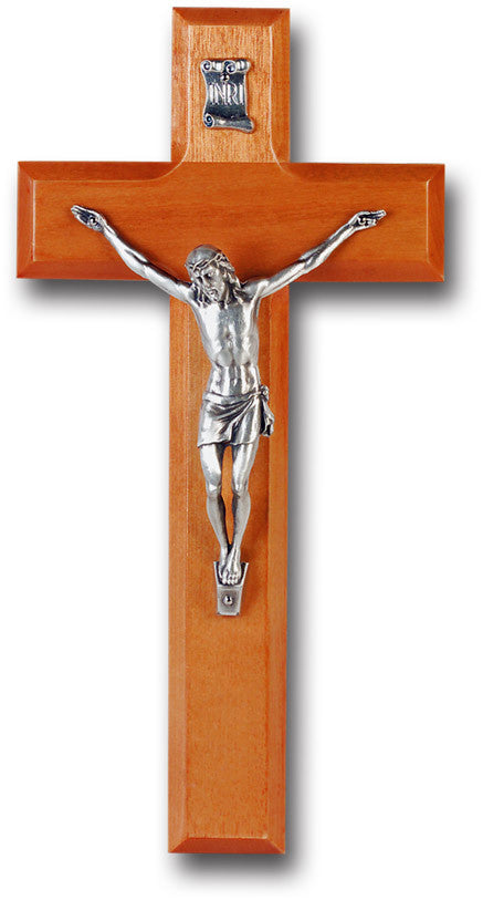 "10"" Cherry Wood Wall Cross"