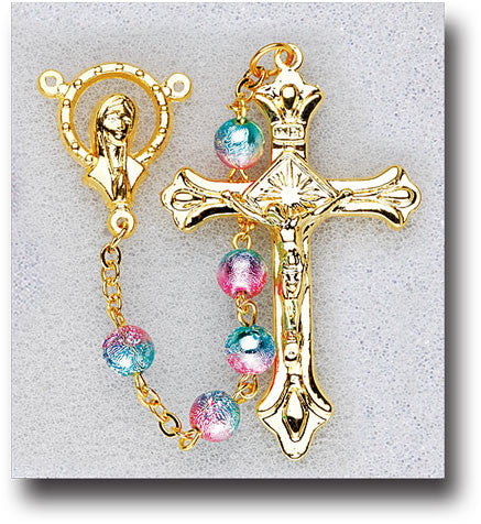 gold_plated_rainbow_bead_rosary