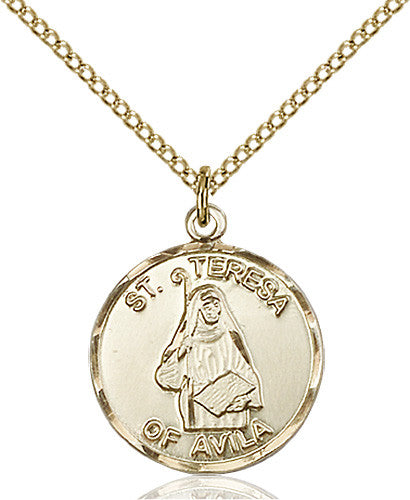 Image of St. Theresa Pendant (Gold Filled)