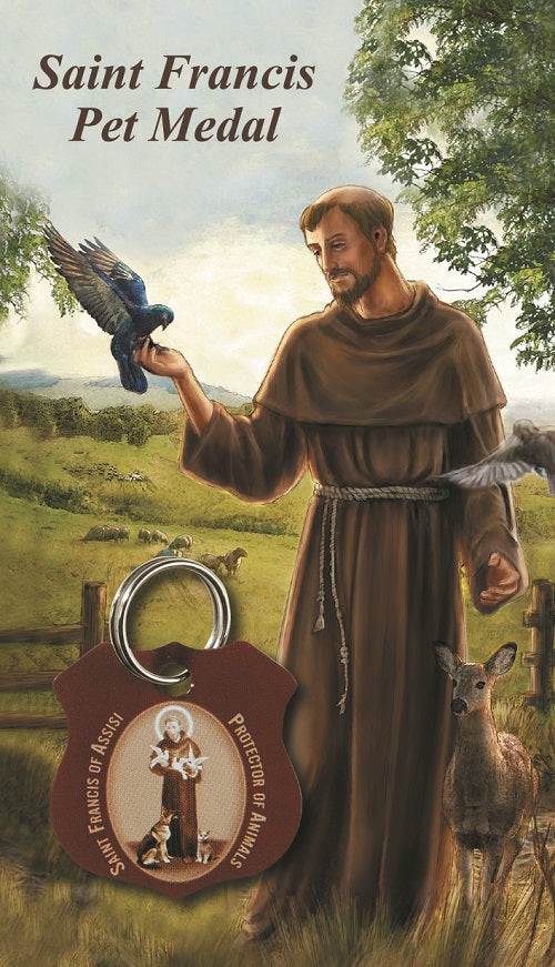 St. Francis of Assisi Brown Pet Medal