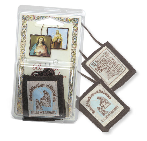 Our Lady of Mount Carmel Brown Wool Scapular