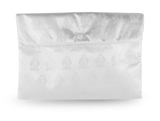 Image of WHITE SATIN PURSE