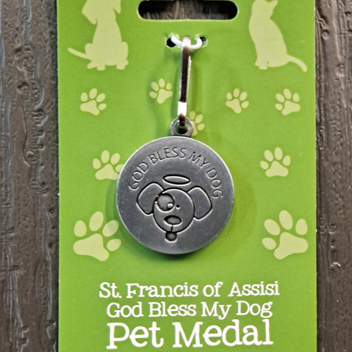 God Bless My Dog - St. Francis Pet Medal