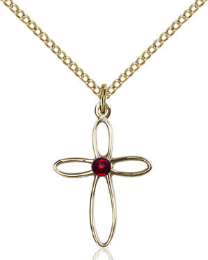 garnet_cross_pendant_14_karat_gold_filled