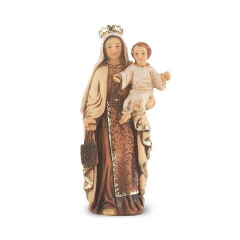 Our Lady of Mount Carmel Hand Painted Solid Resin Statue