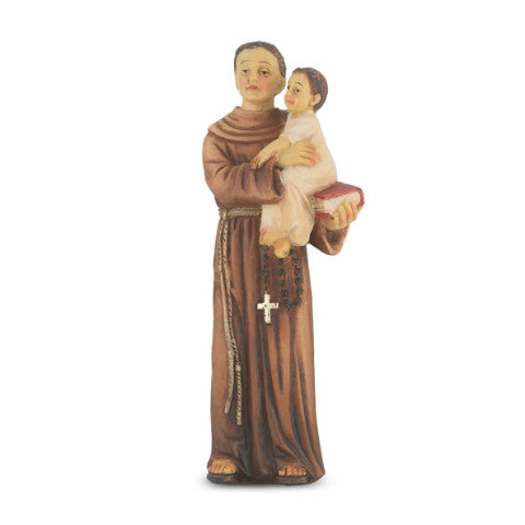 St. Anthony Hand Painted Solid Resin Statue