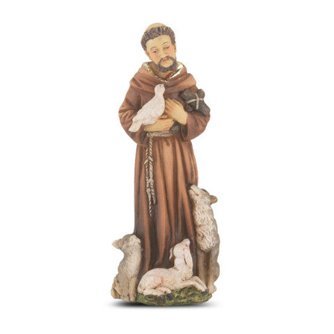 St. Francis of Assisi Hand Painted Solid Resin Statue