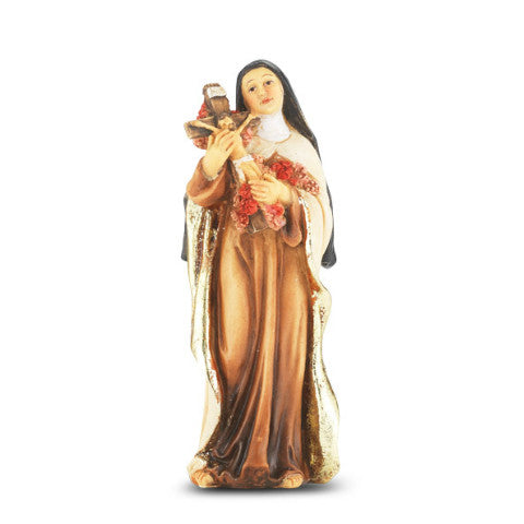St. Therese Hand Painted Solid Resin Statue