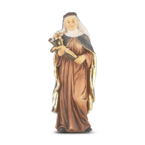 St. Catherine of Siena Hand Painted Solid Resin Statue