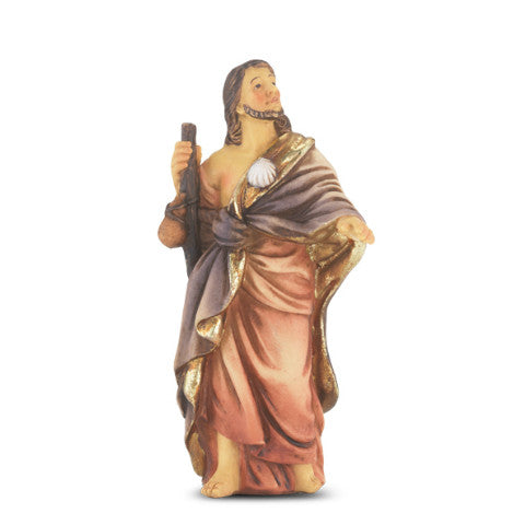 St. James the Greater Hand Painted Solid Resin Statue
