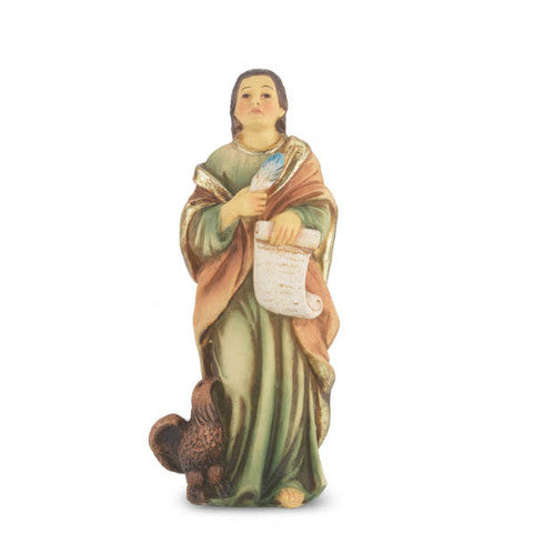 St. John the Evangelist Hand Painted Solid Resin Statue