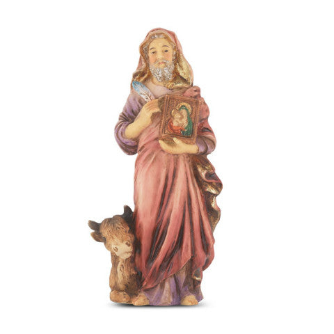 St. Luke Hand Painted Solid Resin Statue