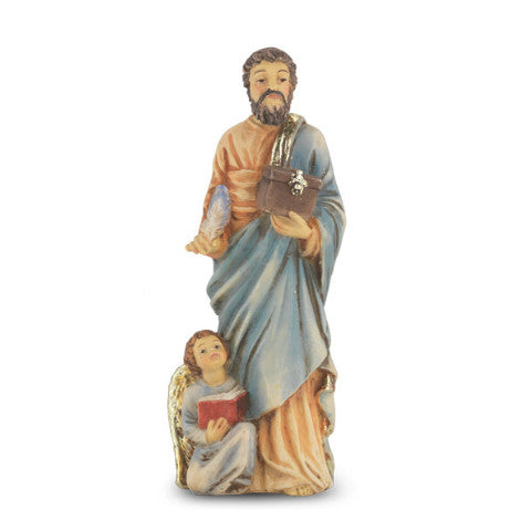 St. Matthew Hand Painted Solid Resin Statue