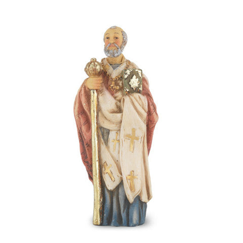 St. Nicholas Hand Painted Solid Resin Statue