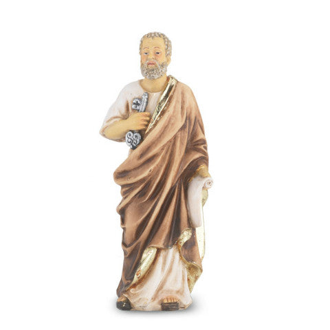 St. Peter Hand Painted Solid Resin Statue