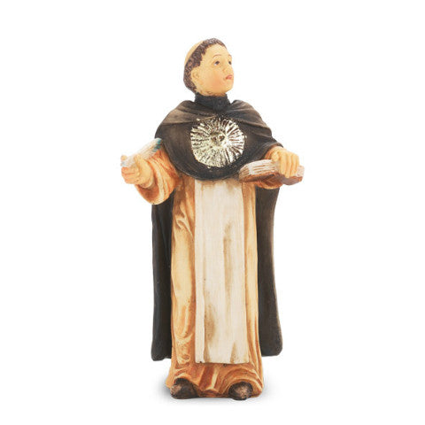St. Thomas Aquinas Hand Painted Solid Resin Statue
