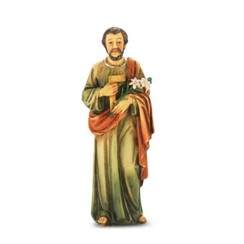 St. Joseph the Worker Hand Painted Solid Resin Statue