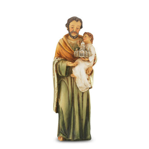 St. Joseph Hand Painted Solid Resin Statue