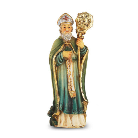 St. Patrick Hand Painted Solid Resin Statue