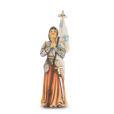 St. Joan of Arc Hand Painted Solid Resin Statue