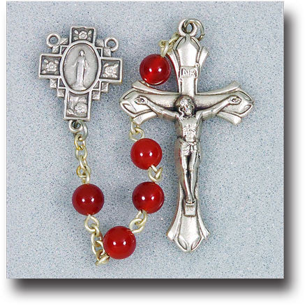 red_agate_rosary