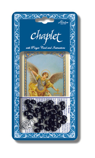 St. Michael Deluxe Chaplet - Black Wood Beads