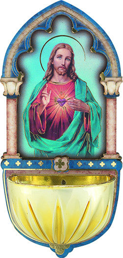 Image of SACRED HEART HOLY WATER FONT