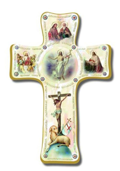 "PEARLIZED EASTER CROSS 6"" - LIMITED EDITION"