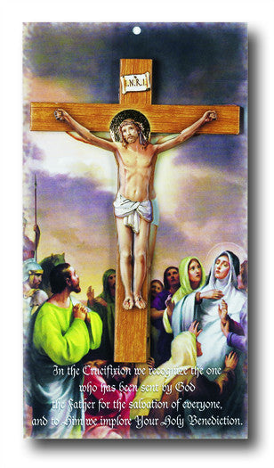 "Image of 6 1/2"" WOOD CRUCIFIX CARDED"