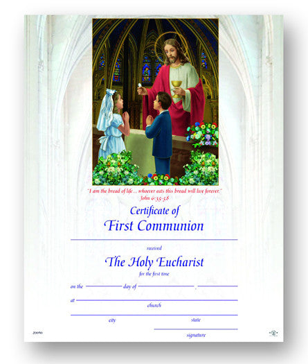 Image of CERT OF FIRST COMMUNION  8x10