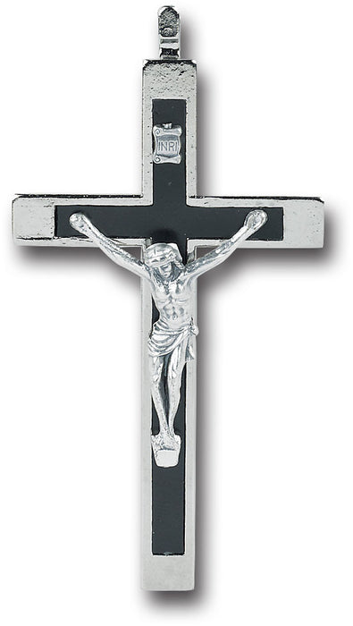 "Image of 3.5"" NICKEL BOUND CRUCIFIX"