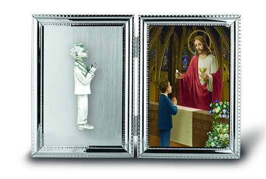 Image of BOY KNEELING PICTURE FRAME