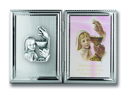 Image of SILVER PLATE COMMUNION GIRL