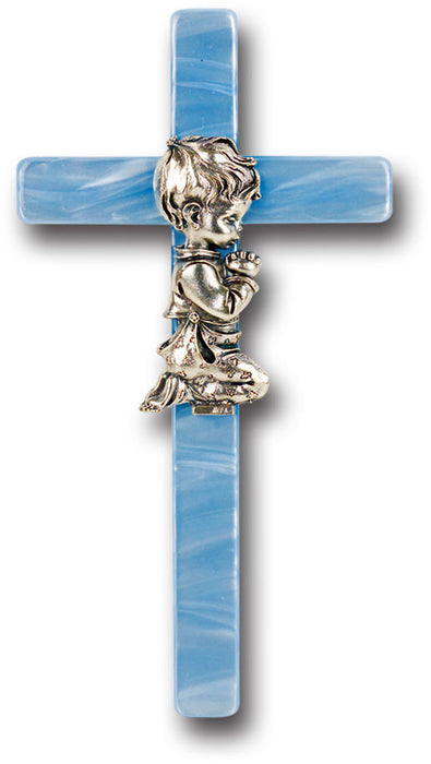 "Image of 7"" BLUE PEARL BABY CROSS"